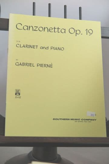 Pierne G - Canzonetta Op 19 for Clarinet & Piano
